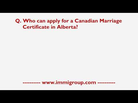 Who Can Apply For A Canadian Marriage Certificate In Alberta?