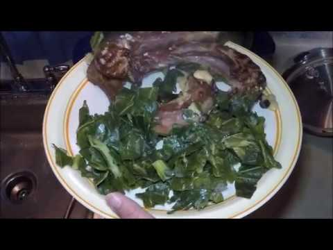 Smoked Turkey Necks, Legs, Collard Greens and Beans in Pressure Cooker