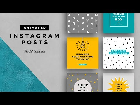Animated Instagram Posts - Playful Collection