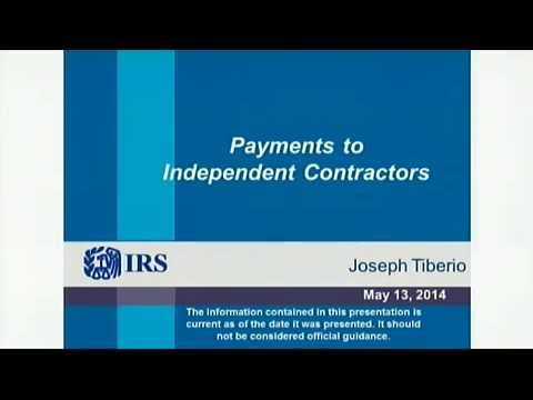IRS Webinar: Payments to Independent Contractors (Small Business)