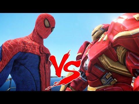 THE AMAZING SPIDER-MAN VS HULKBUSTER (Iron Man Mark 44)