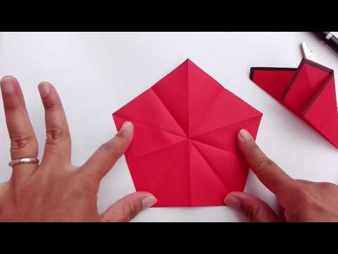HOW TO MAKE PENTAGON AND DECAGON FROM SQUARE PAPER