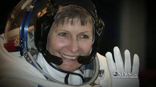"ABC World News - Peggy Whitson stays in ""space"" for 666 days"