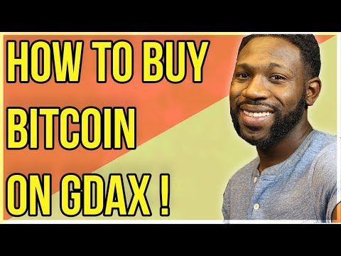 How to Buy Bitcoin on GDAX !