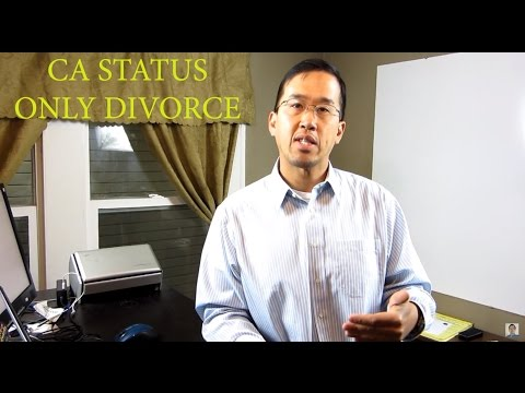 California Status Only Divorce - The Law Offices of Andy I. Chen