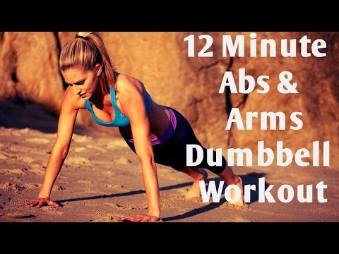 12 Minute Arms and Abs Dumbbell Workout For Toning and Strengthening