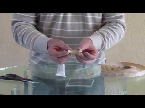 How to glue Acrylic * Sealing tape * Abdicht-Klebeband