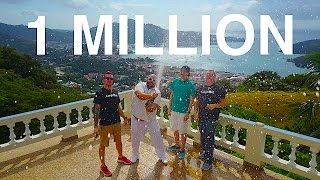WE DID IT!!!  1,000,000 SUBSCRIBERS!!!