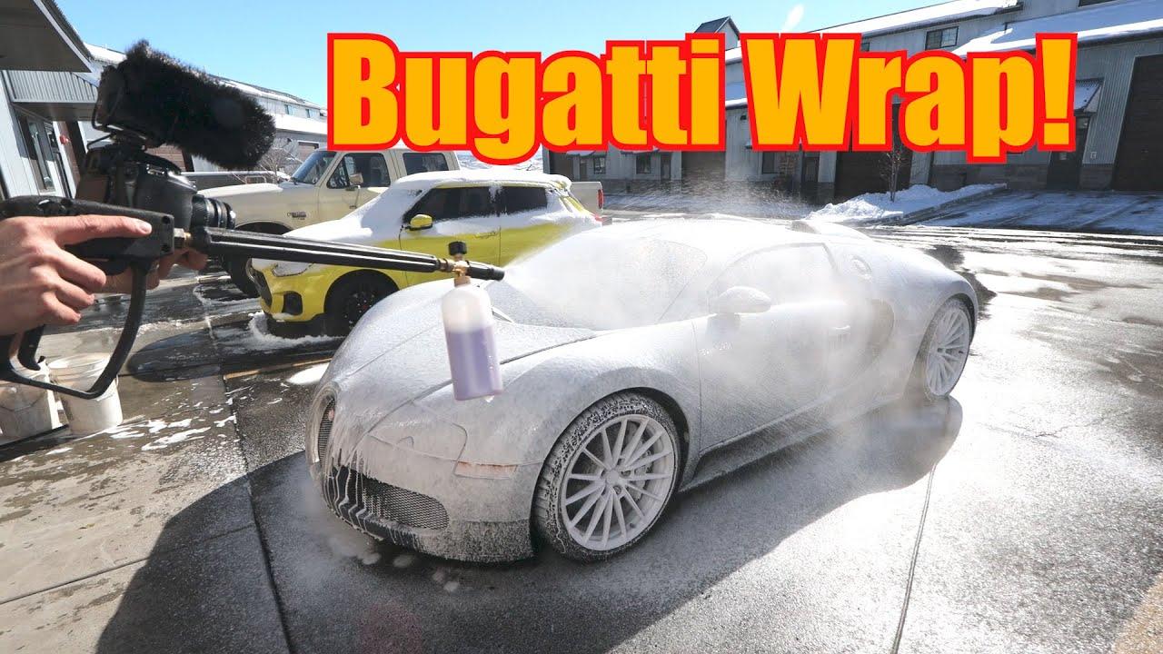 WRAPPING MY BUGATTI VEYRON!