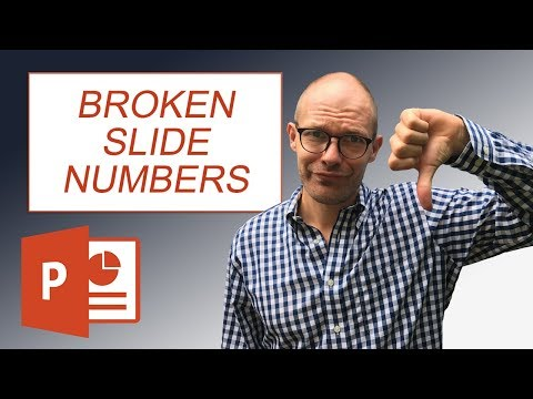 PowerPoint slide numbers won't show up? Try this...