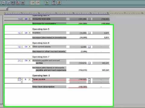 GAAP Financials: Working in the Financial Statements - Statement of Cash Flows Worksheet