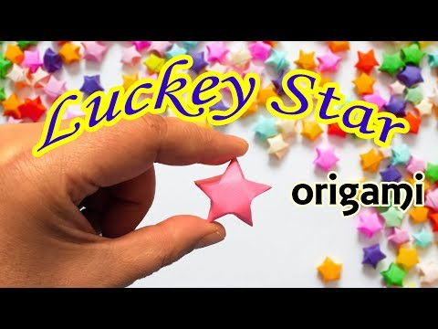 Origami Lucky Star Tutorial | How to Make a 3D Paper Star Easy and Cute | Paper Folding Craft