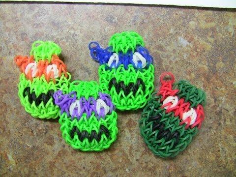 Rainbow Loom Ninja Turtles Characters - New Bracelet Design!