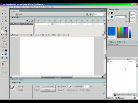 Using Flash MX 2004 Pt.1: Basic Animations