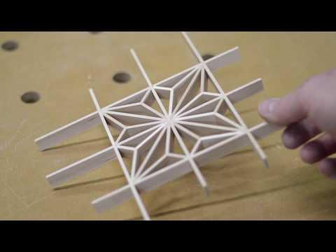 Kumiko how to: Japanese woodworking asa no ha