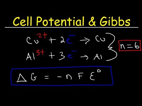 Cell Potential & Gibbs Free Energy, Standard Reduction Potentials, Electrochemistry Problems