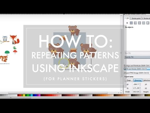 How To Create a Repeating Pattern using Inkscape // for planner sticker makers