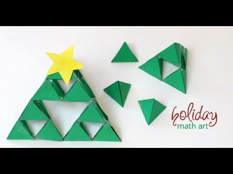 How to make a 3D Sierpinski fractal triangle Christmas Tree