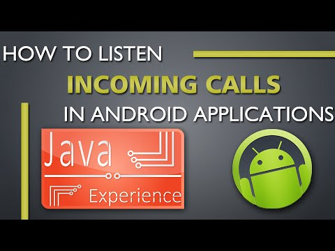 Listen for incoming calls in android example