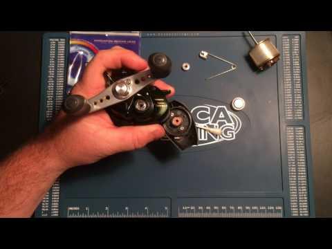 How to change the bearings in a Shimano Curado 50e