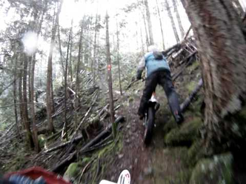 Trail grooming for the Kirk Enduro with the