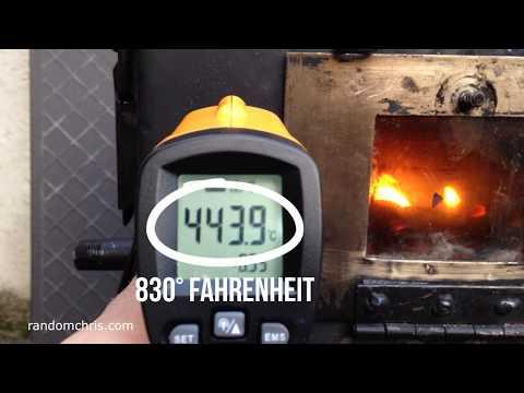 My Mini Homemade Wood Stove  Burning at 830°