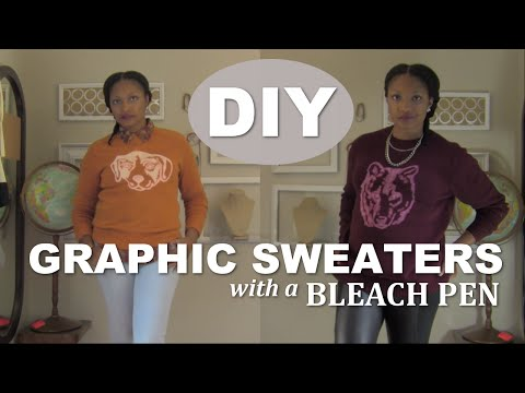 DIY: Graphic Sweaters with a Bleach Pen