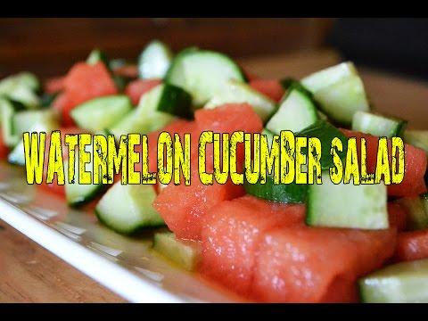 Super Easy Watermelon Cucumber Salad!
