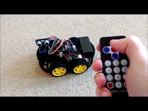 Program Infrared Remote Controlled Arduino Smart Car Robot with Visuino