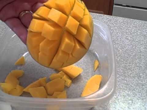 How do I cut up a mango?