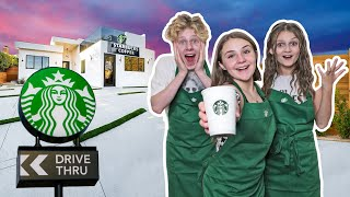 I OPENED My Own STARBUCKS At HOME **24 HOUR CHALLENGE**🥤❤️| Piper Rockelle