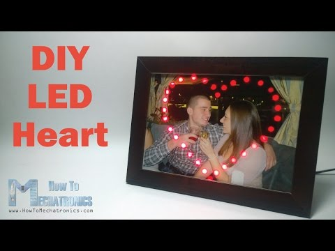 DIY LED Heart Photo Frame - Arduino Project