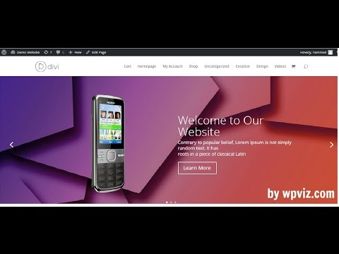 How to add full width Image Slider in wordpress Divi theme (2018)