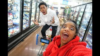 CRAZY LATE NIGHT GROCERY SHOPPING   VLOGMAS DAY 3