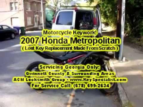 Locksmith: 2007 Kawasaki Ninja - Motorcycle Lost Key Replacement Made! Duluth, GA