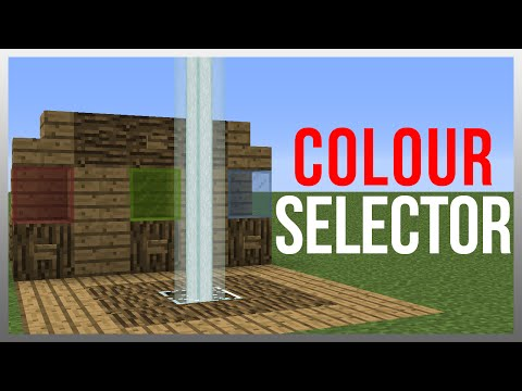 Minecraft 1.12: Redstone Tutorial - Beacon Colour Selector!