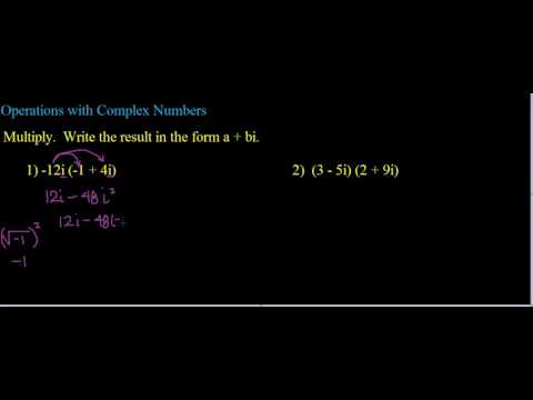 Operations with Complex Numbers Ex  2