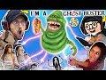 GHOST BUSTERS In REAL LIFE!!  Slimer no like Party in Elevators + FGTEEV DUDDY in Gurkey GAME?