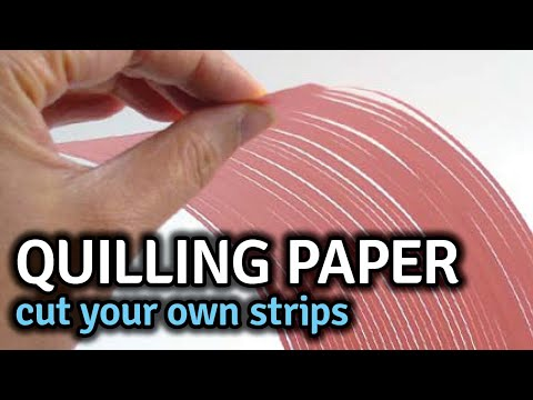 How To Cut Your Own Quilling Paper Strips