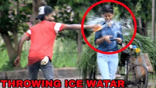 THROWING ICE WATER IN THE FACE - PRANK ON GIRLS || BY - MOUZ PRANK