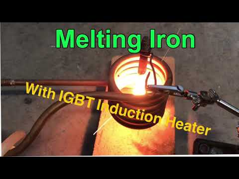 Melting Iron with IGBT Induction Heater