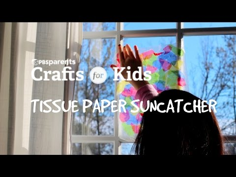 Tissue Paper Suncatcher | Crafts for Kids | PBS Parents