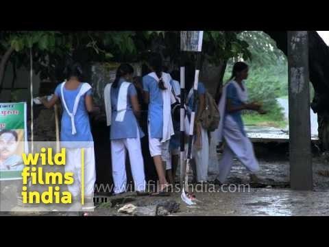 Xxx Mp4 Village School Girls Wash Off Monsoon Mud In Rajasthan 3gp Sex