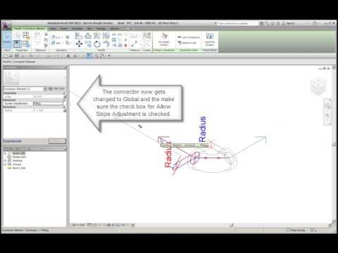 Revit MEP fittings and Allow Slope Adjustment