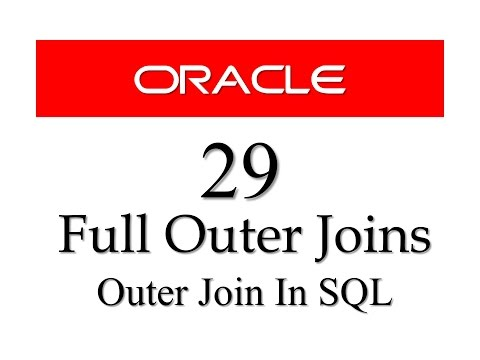 SQL tutorial 29: Full Outer Join with example By Manish Sharma/ RebellionRider