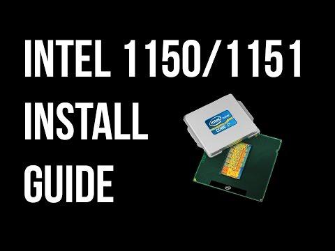 Intel Socket 1150/1151 Haswell/Skylake/Kabylake/Coffeelake CPU (Processor) Install Guide