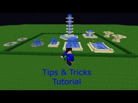 Minecraft Tips & Tricks Water Fountians