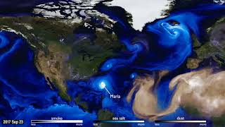 Usually Invisible Weather Patterns Brought to Light by Tracking Aerosols from Space