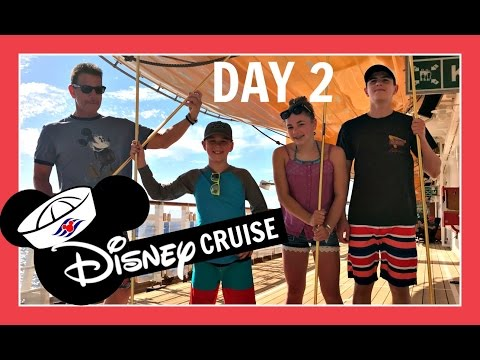 DISNEY CRUISE VACATION   DAY 2: GAME DAY AT SEA   Flippin' Katie