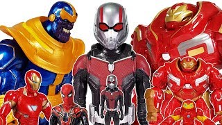 Thanos Vs Avengers, Go~! Ant-man, Spider Man, Hulk, Iron Man, Captain America, Hulkbuster Toys Play